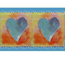 Two Painted Hearts with XOXO Photographic Print