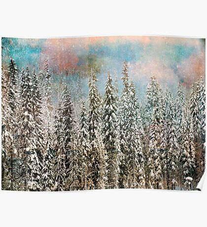 Winter Pastels Poster