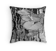 Lily Pads on the March Throw Pillow