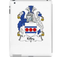 Coat of arms (family crest) for last-name or surname Kilby . Heraldry banner for your name. iPad Case/Skin