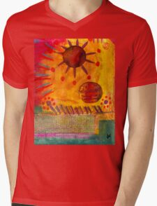 The Sun Shines on US the Same Mens V-Neck T-Shirt