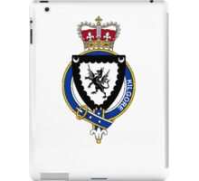 Coat of arms (family crest) for last-name or surname Kilgore or Kilgour (Scotland) . Heraldry banner for your name. iPad Case/Skin