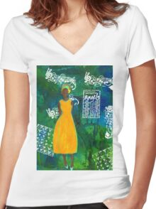 As Sweet As An Angel Women's Fitted V-Neck T-Shirt