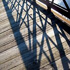 Shadows on a Bridge by Bobbie J. Bonebrake