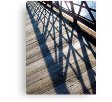 Shadows on a Bridge Canvas Print