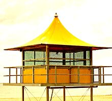 Life-Savers Hut on Glenelg Beach by Stephen Mitchell