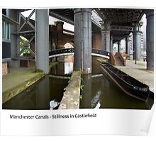 UK - Manchester's  Castlefield Canal area Poster