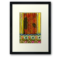 Saw A Woman in a Black Dress, a Black Hat But No Gloves Framed Print