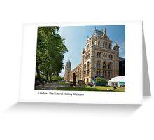 UK - London's Natural History Museum Greeting Card