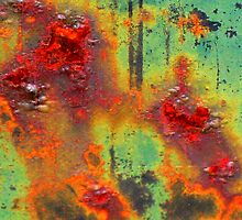Colours of a Rusty Sign by Marilyn Harris