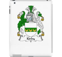 Coat of arms (family crest) for last-name or surname Kirby . Heraldry banner for your name. iPad Case/Skin