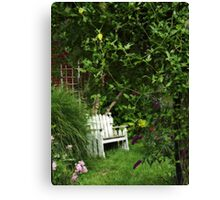 The Bench in High Summer Canvas Print