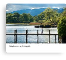 UK - Ambleside on the shores of Windermere in Cumbria Canvas Print