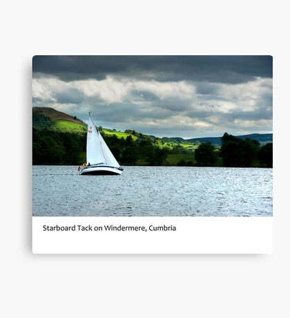 UK - Starboard tack on Windermere Canvas Print