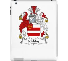 Coat of arms (family crest) for last-name or surname Kirkby . Heraldry banner for your name. iPad Case/Skin
