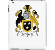 Coat of arms (family crest) for last-name or surname Kirkland . Heraldry banner for your name. iPad Case/Skin
