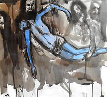 blue christ by Loui  Jover