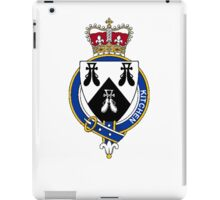 Coat of arms (family crest) for last-name or surname Kitchen (England) . Heraldry banner for your name. iPad Case/Skin