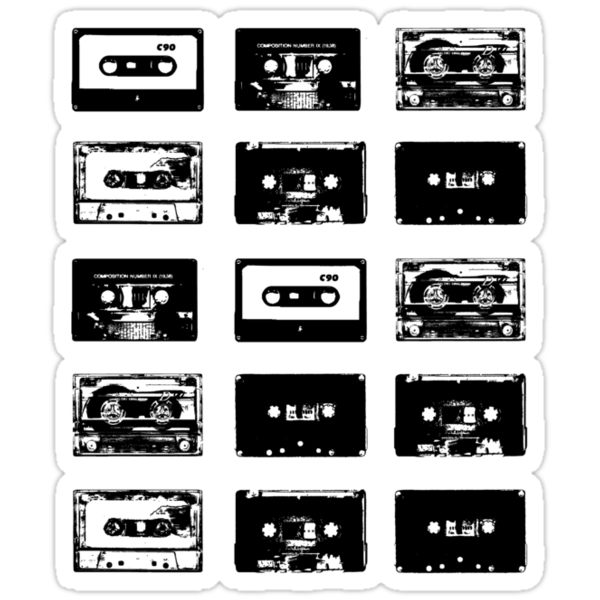 Audio Cassette Tapes (Black) by Paul Welding