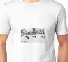Sledders in Snowy Central Park, NYC Unisex T-Shirt