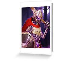 Skarkh The Undead Warrior Greeting Card
