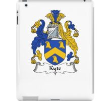 Coat of arms (family crest) for last-name or surname Kite or Kyte . Heraldry banner for your name. iPad Case/Skin