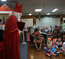 "Sinterklaas and the young ""heckler""! (Kidding!!)  by MrJoop"
