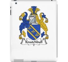 Coat of arms (family crest) for last-name or surname Knatchbull . Heraldry banner for your name. iPad Case/Skin