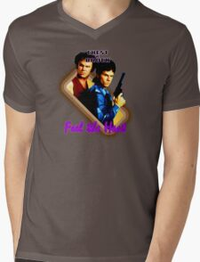 Brock and Chest- Feel the Heat Mens V-Neck T-Shirt