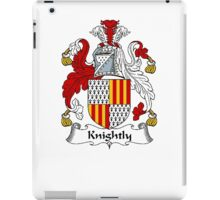 Coat of arms (family crest) for last-name or surname Knightly or Knightley . Heraldry banner for your name. iPad Case/Skin