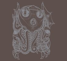 Cthulhu -Corporate Madness- in light grey by Adew