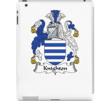 Coat of arms (family crest) for last-name or surname Knighton . Heraldry banner for your name. iPad Case/Skin
