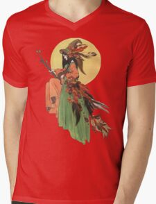 Autumn Witch Mens V-Neck T-Shirt