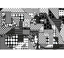 Beautiful Cushions/Digital Quilt Black and White Photographic Print