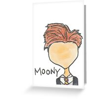 Moony Greeting Card