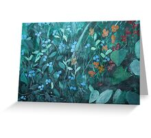 Flowers in garden - card Greeting Card