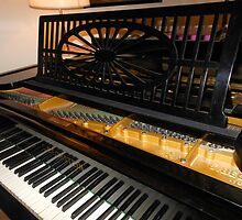 Bechstein Mini Grand Piano - Keyboard Close-up by MidnightMelody