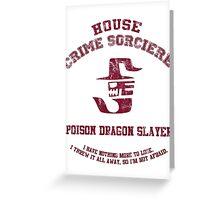 Poison Dragon Slayer Greeting Card