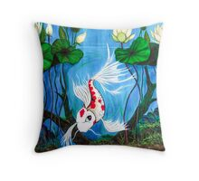 Jewel of the Pond Throw Pillow