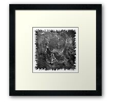 The Atlas of Dreams - Plate 15 (b&w) Framed Print