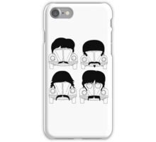 The Beatles -Black iPhone Case/Skin