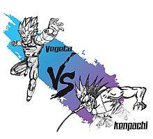 Vegeta vs Kenpachi Photographic Print