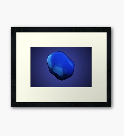 Blue abstract blob Framed Print