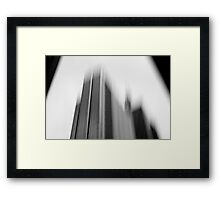 Building blur Framed Print