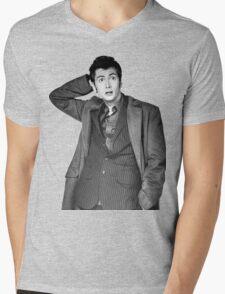 David Tennant as Doctor Who Mens V-Neck T-Shirt