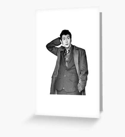 David Tennant as Doctor Who Greeting Card