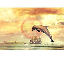 Dolphin Surrealist Art Photographic Print