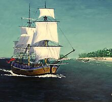 Endeavour in the Pacific by WILT
