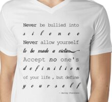 be-yourself Mens V-Neck T-Shirt