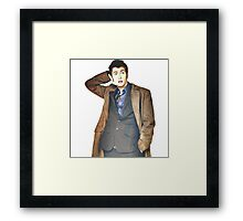 COLOR David Tennant as Doctor Who Framed Print